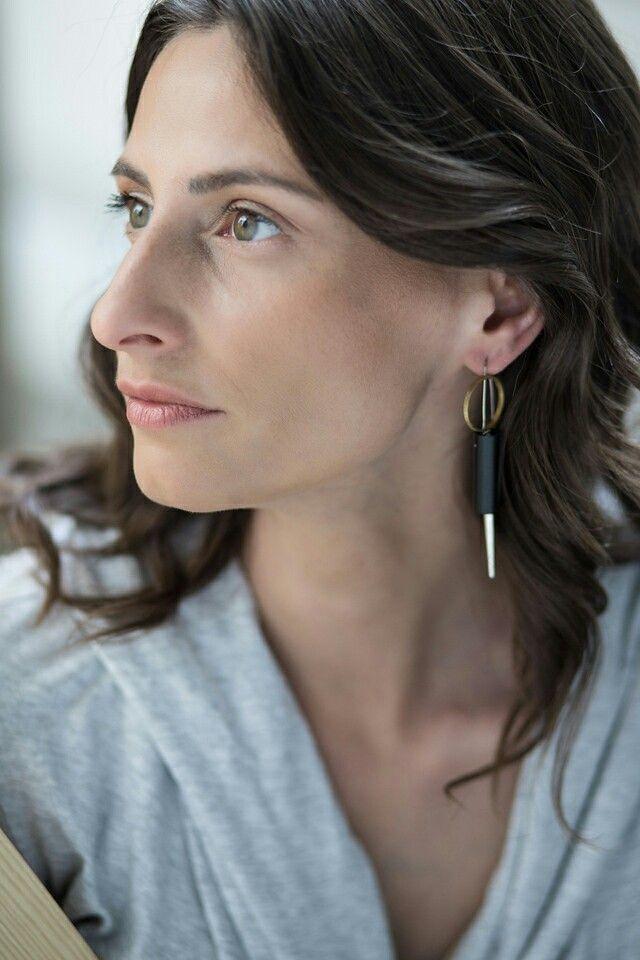 SPIKE LEE earring by SZMER-craft Photo: Anna Trojanowska Photography Make up. Kamila Bukowska / Kabuko  model: Paulina Makowska / jewellery designer