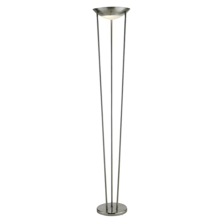 Adesso Odyssey Tall Floor Lamp Silver