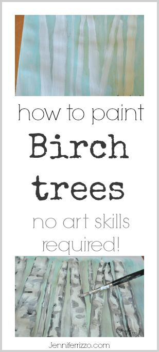 How to paint birch trees no art skills required! Fun and easy fr your next painting party or painting project idea!