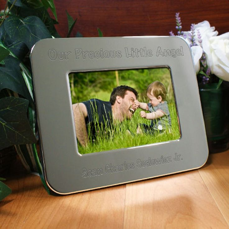 Personalized Engraved Little Angel Silver Picture Frame - Gifts Happen Here