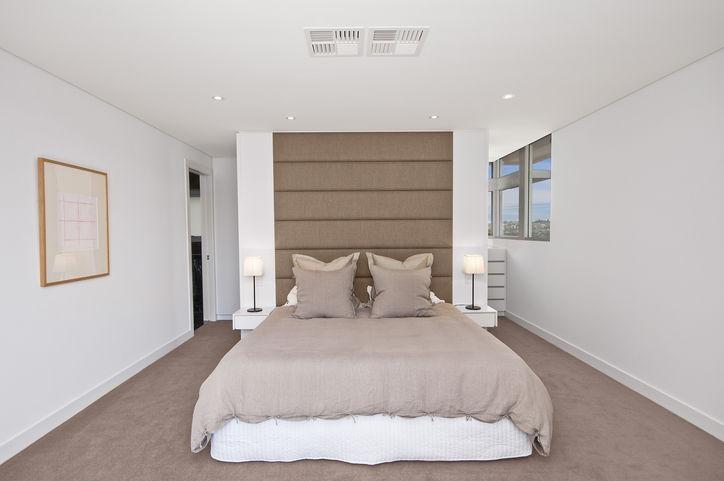 bedroom. Decorator: Jeni Jewell Designs