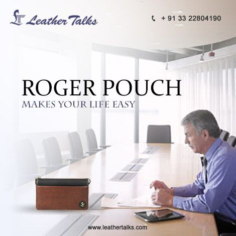 Roger Pouch II- A new addition to our collection of Men's Pouch. Crafted with #toughleather and is extremely stylish. An unusual yet useful item to gift your friend or colleague.   http://leathertalks.com/product/roger-pouch-ii/