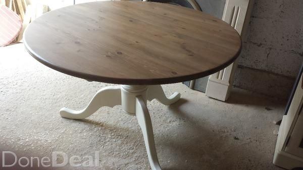 Solid pine country kitchen dining table in very good condition measures 4ft diameter. €225 .free delivery within dublin area#xtor=CS1-41-[share]