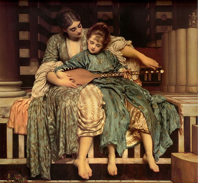 Frederic Leighton 'The Music Lesson' 1877. (one of my favorite paintings in mama's house)