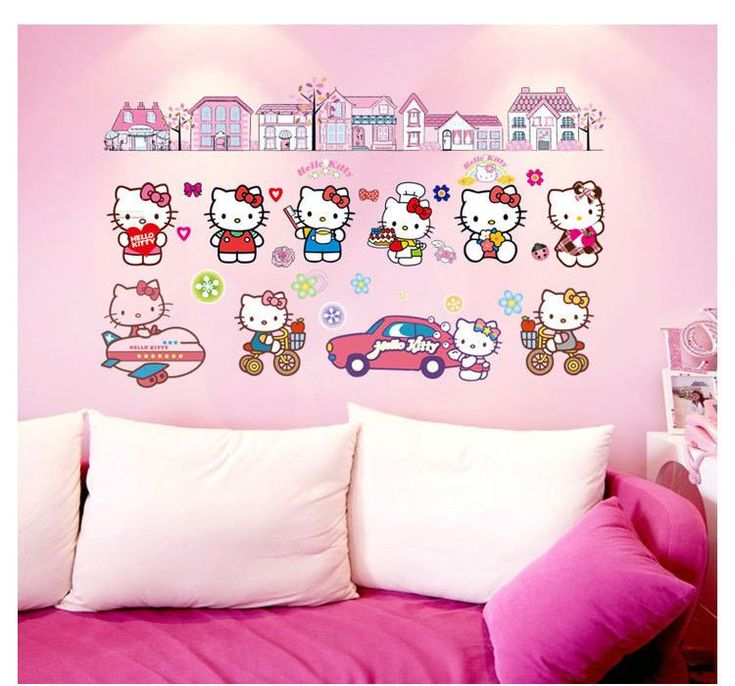 Removable HELLO KITTY Wall Sticker Home Decor Art Decal Vinyl Kids Room  Decorative Free Shipping Part 67