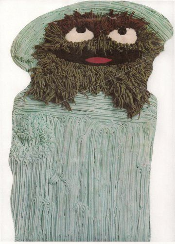 Wilton Oscar The Grouch In Trash Can Cake Pan 5027512 1977