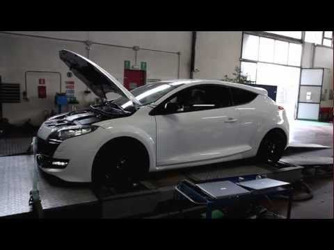 ALL CAR RACING - RENAULT MEGANE III 2.0 TURBO 265HP - ECU TUNING DYNO TEST - YouTube