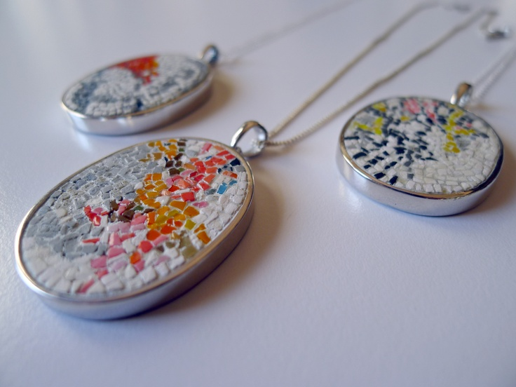 Micro mosaic pendants by Spier Architectural Arts