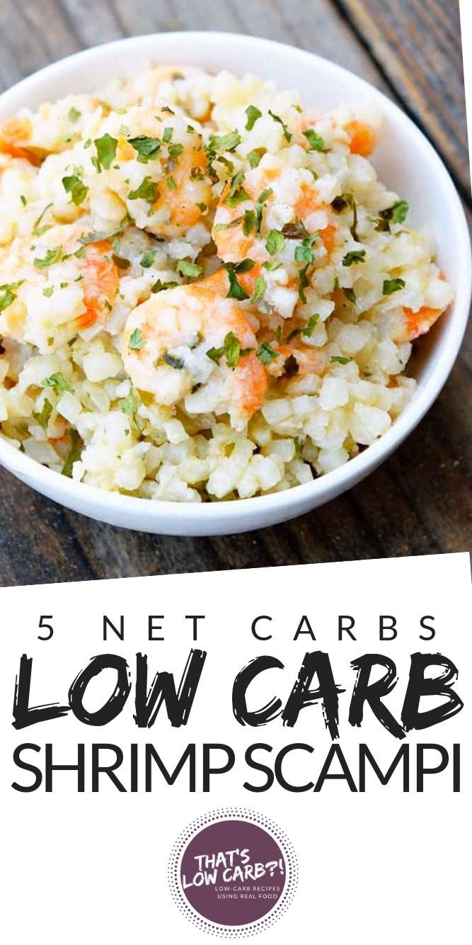 Low Carb Shrimp Scampi recipe that will satisfy all those cravings for a traditi…