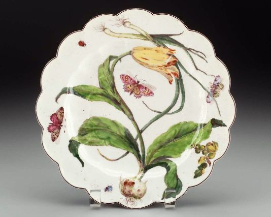 Plate - English, About 1752–58 - Made at Chelsea Manufactory