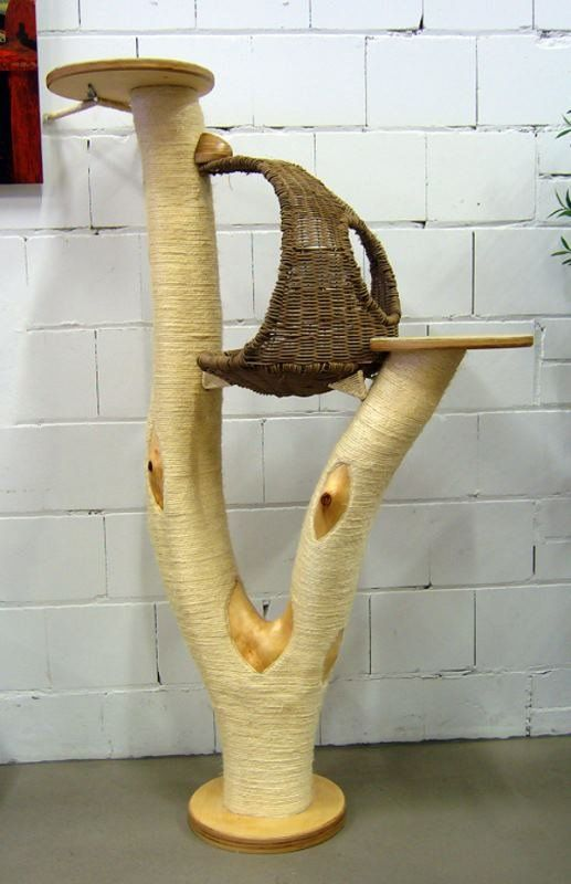 kratzbaum modell nr 3 mit korb in muschelform hauspanther faves pinterest cat cat tree. Black Bedroom Furniture Sets. Home Design Ideas