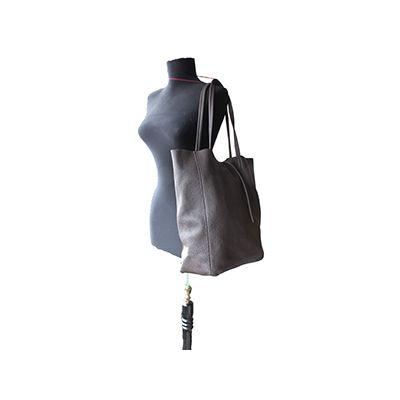 Tania Italian Dark Brown Leather Shopper Bag - £49.99