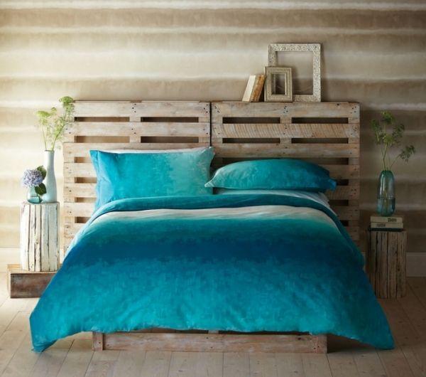 1000 id es sur le th me lits en bois sur pinterest canap en bois cadres d - Faire soi meme une tete de lit ...