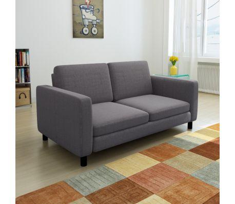 Charming Sofa 2 Sitzer Dunkelgrau Nice Look