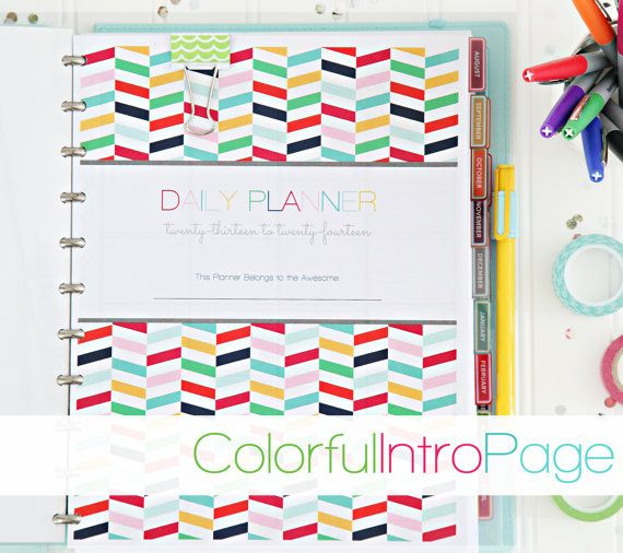 2013/2014 Daily Planner PDF Printable Pages di IHeartOrganizing