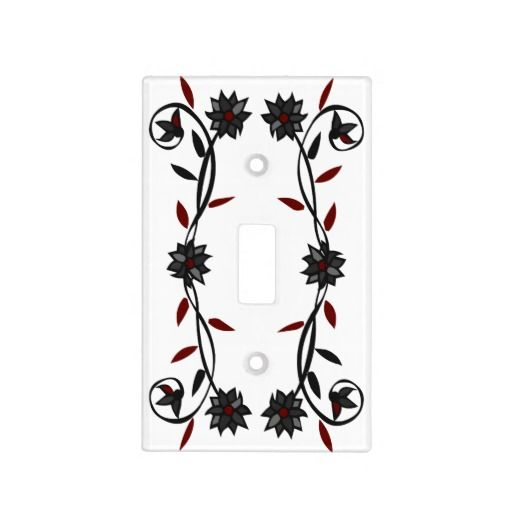 flowers and vines light switch cover
