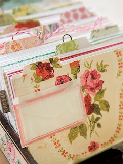 Stipje - covered file folders - pretty way to stay organized.