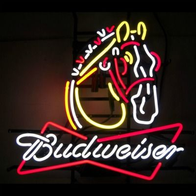Budweiser Clydesdale Neon Sign  Oh my, would love to find this sign!