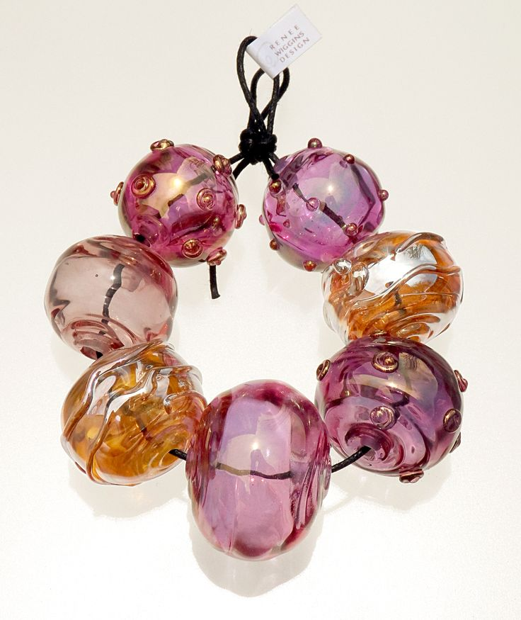 juicy gold fumed pinks u0026 amber silver hollow bead set renee wiggins design