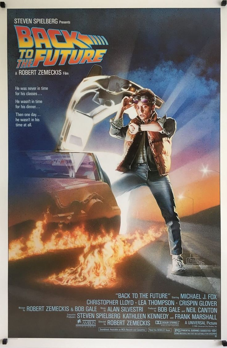 Back To The Future US One Sheet original vintage film movie poster, available through my website.