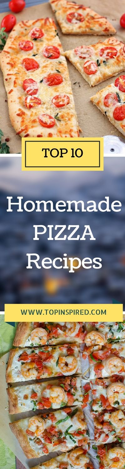 Enjoy these selection of the greatest homemade pizza recipes. #Pizza
