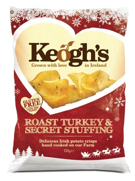 Keogh's make wonderful crisps and for Christmas 2012, they have released Roast Turkey & Secret Stuffing flavour