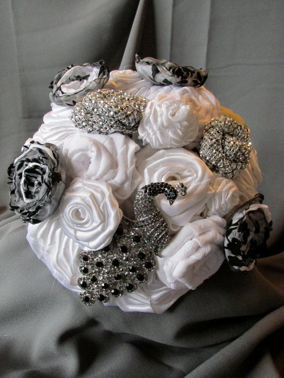 Hey, I found this really awesome Etsy listing at https://www.etsy.com/listing/208718988/white-fabric-flower-wedding-bouquet