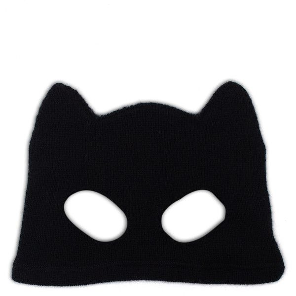 Silver Spoon Attire Cashmere Cat Mask ($275) ❤ liked on Polyvore featuring accessories, hats, masks, beanie, headwear, couture hats, cat ear hat, cat hat, beanie hats and beanie cap hat