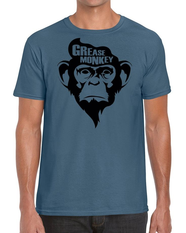 Awesome Tshirts - Grease Monkey T-Shirt - Men's Indigo Blue T-shirt