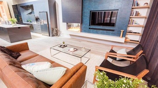 The Block Fans v Faves: Alyssa and Lysandra living space - love the built in space
