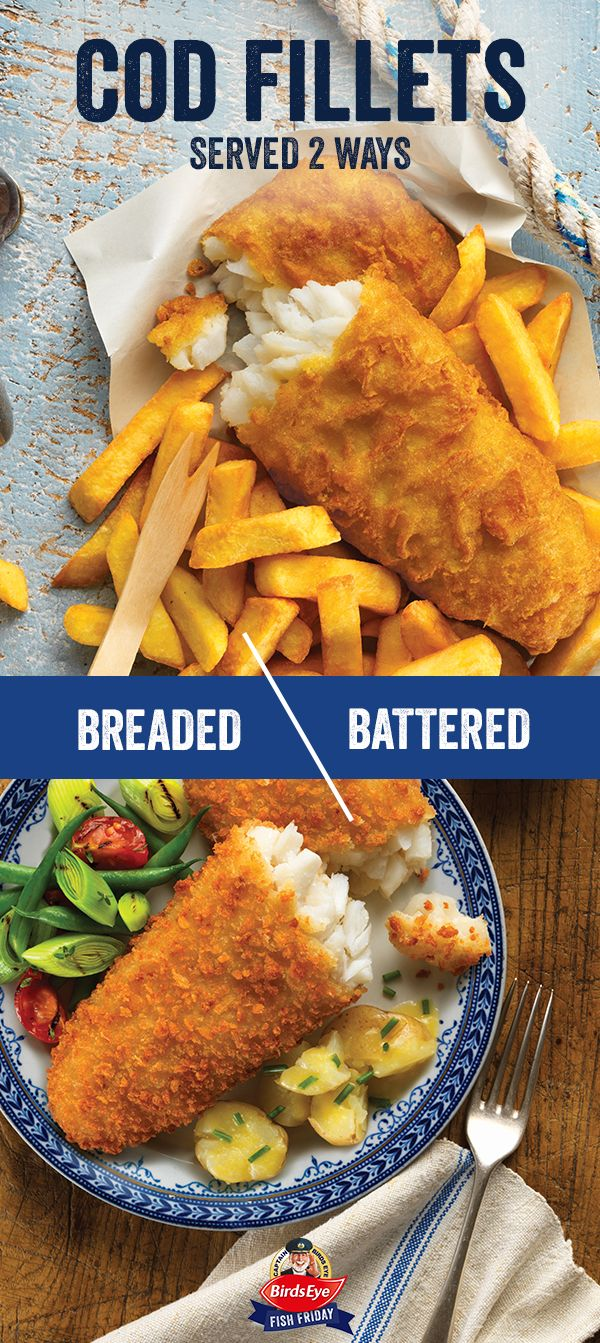 Do you prefer battered or breaded fish cod fillets? Whichever you choose, make Birds Eye your #FishFriday and enjoy the ultimate Friday night treat.