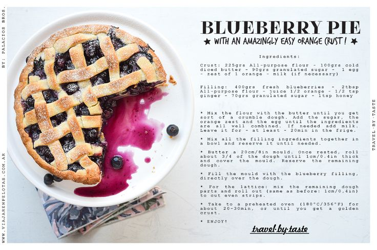Blueberry Pie Recipe <3