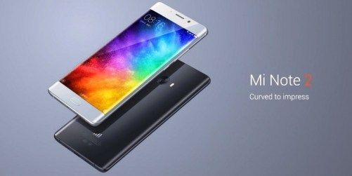 tampilan Smartphone Mi Note 2