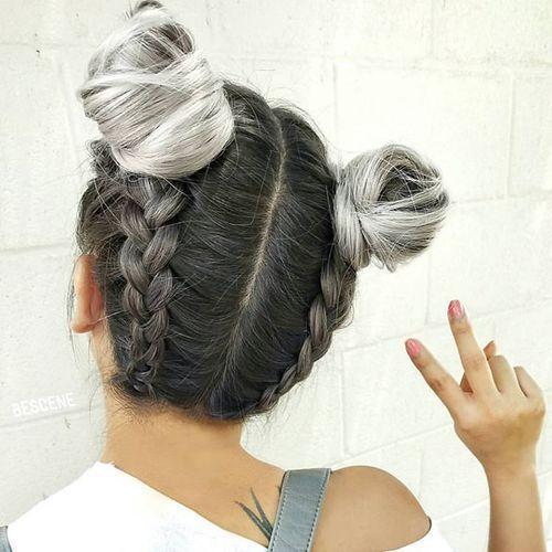 Trança embutida invertida com coque! | Penteados Tumblr de 2019 | Penteados tumblr, Penteados legais e Penteados