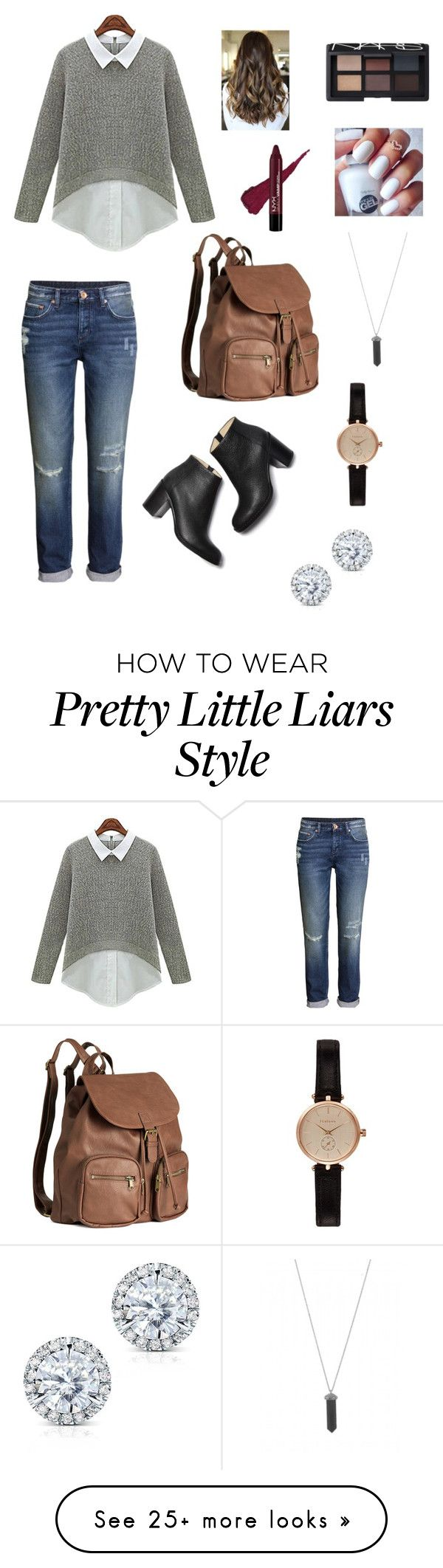"""Spencer Hastings Pretty Little Liars Set 2"" by sophiateixeiraanderson on Polyvore featuring H&M, Paul Andrew, Barbour, NARS Cosmetics, Karen Kane and Kobelli"