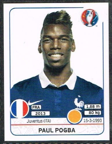 Paul Pogba France Nr 0027 #euro2016 #france #stickers #panini #midfielder #Pogba