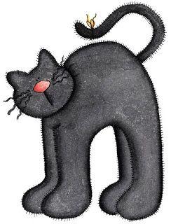 Dibujos de gatos de halloween