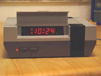 NES Clock, yep. I need one of these that plays the Super Mario or Zelda music as the alarm sound.