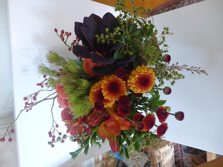 Bridesmaid's bouquet - autumn brights
