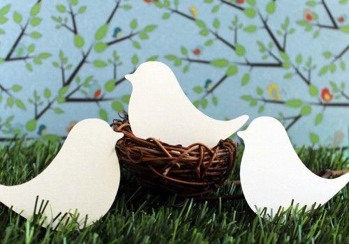 Wedding Place Cards Love Birds Set of 100 | tiffzippy - Wedding on ArtFire