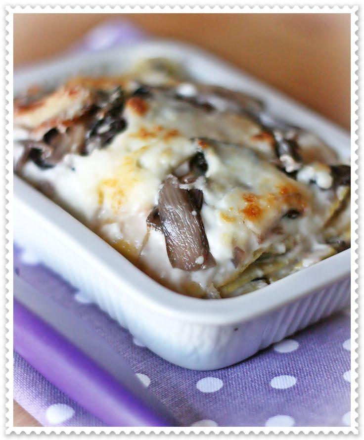 lasagne radicchio e bufala affumicata