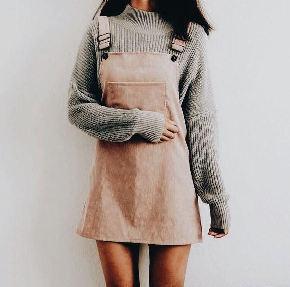velours velouté  ♆  robe salopette rose pêche saumonée velvet dress  color peach