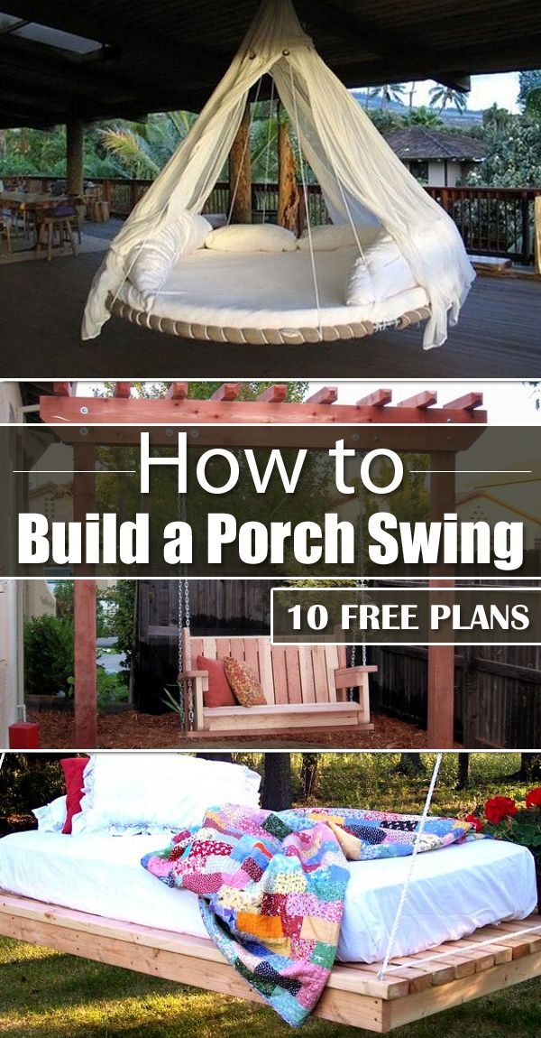 10 Free Plans On How To Build A Porch Swing Porch Swings