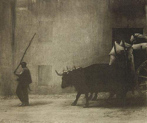 James Craig Annan; Bullock Waggon Segovia, 1913