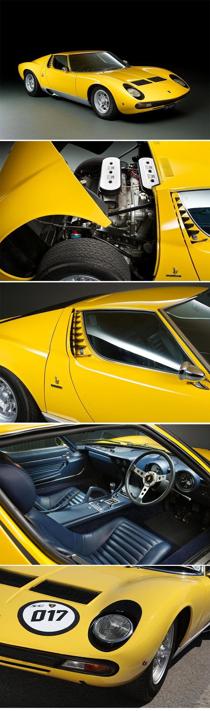 1972 Lamborghini Miura SV Coupé Coachwork by Carrozzeria Bertone