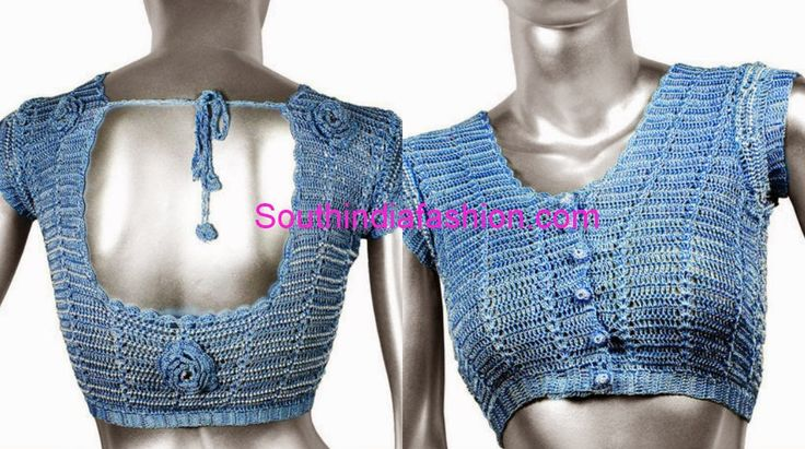 Crochet Saree Blouse Pattern 81