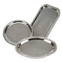Bulk Nickel-Plated Metal Serving Trays at DollarTree.com
