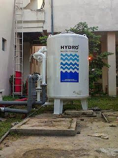 Pemasangan Filter Air HYDRO STN 12 kali ini di lakukan di PSDG (Pusat Sumber Daya Geology) Bandung. Dengan kapasitasnya yang besar Penjernih Air HYDRO STN 12 mampu menyaring air kotor sekitar 12m3/jam, sehingga dapat memenuhi kebutuhan akan air bersih yang diperlukan oleh para karyawan di kantor tersebut.Sumber air yang di pakai adalah air tanah, kondisinya yaitu air berwana kuning, keruh dan agak berbau besi.