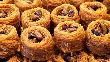 Delicious Arabic Sweets Recipe - طريقة عمل حلى عش البلبل اللذيذ