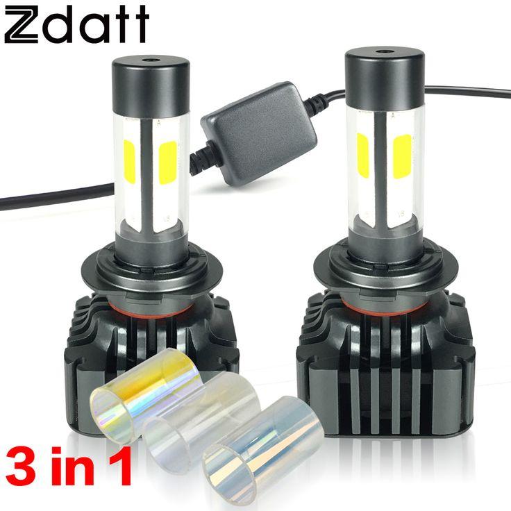 2 Unids Brillante Estupendo H7 LED 12000LM 120 W de Alta Potencia Del Coche Led Bombillas de los faros 3000 K 6000 K 8000 K Luz de Cruce 12 V Lámpara de Automóviles